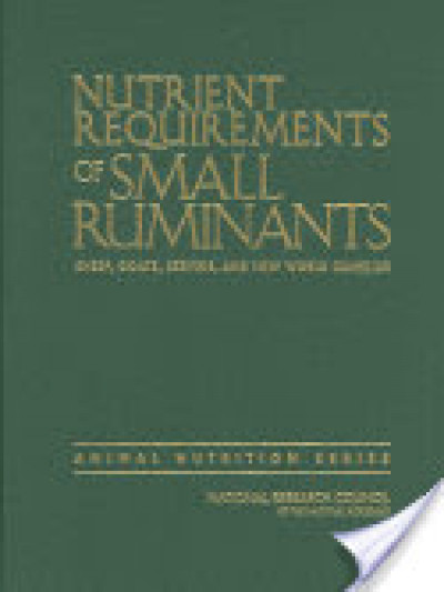 Libro: Nutrient requirements small ruminant: sheep goat